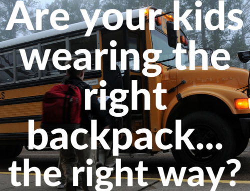 Are your kids wearing the right backpack… the right way?